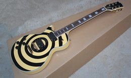 Hot Selling Custom ART Zakk Wylde Maple Neck Black & Yellow with Style EMG Pickups Left handed Electric Guitar
