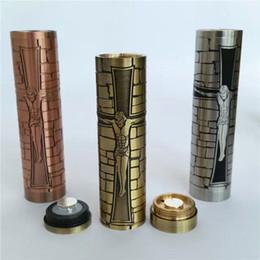 Cobre vaporizador mod en Línea-Jesús batería Mod Jesús MOD ss / cobre / latón A + Cigarrillos mecánicos E mod mod aptos para 510 atomizador RDA vaporizador DHL libre