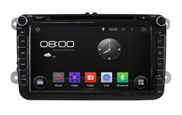 "Wholesale Chinese Din Gps - 1024*600 Android 4.4 HD 8"" Car DVD Player Radio GPS for Volkswagen VW Caddy Golf Jetta Polo Sedan Touran Passat EOS Caddy Skoda Seat CC"