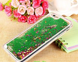 Colorful Moving Stars Liquid Glitter Quicksand 3D Bling Phone Case Cover For iPhone 6 Plus For samsung s7 Edge Shining Star Liquid Case