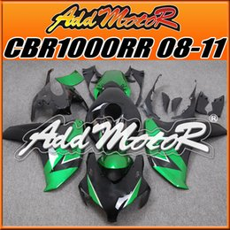 Wholesale Addmotor Injection Mold Aftermarket Fairings Fit Honda CBR1000RR CBR RR Body Kit Green Black H1857 Five Free Gifts