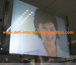 Wholesale quot of square meter Adhesive White color Rear projection film foil for shopping mall advertising education store bank