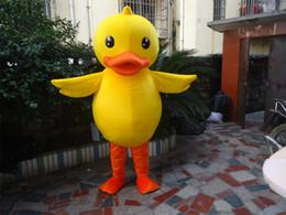 Yellow duck mascot costume Adult sized