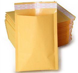 Burbuja de papel kraft en Línea-Kraft paper Envelopes Air Mail Air Bags Embalaje de burbujas amortiguación acolchados Envoltura de oro 160 mm * 140 mm 6.29 * 5.5inch envío de la gota