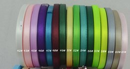 -1-1 2''(38mm)single face satin ribbon 25 yards roll total 20 rolls, 500 yard  lot mix 20color.120 color for option