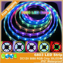 2017 couleur de rêve magique DC12V 5m 6803 IC rêve Color Magic 5050 Strip RVB numérique, 30LED / m IP67 étanche SMD Intelligent Light Strip couleur de rêve magique promotion