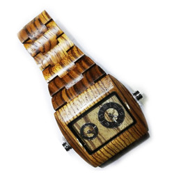 Wholesale Best Gift for Men Wooden Watches with Wood Strap Quartz Wristwatches Idea Watch