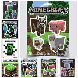 Wholesale Minecraft Stickers Styles Creeper Decorative Stickers Wall Decal Cartoon Wallpaper MC Poster Steve Decorative Stickers High Quality