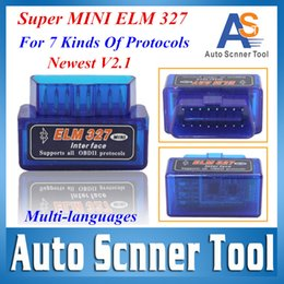 Wholesale New AutoScanner Tool Version Elm327 Bluetooth Elm ScanTools support for all OBD2 Protocals