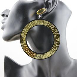 European Fashion Vintage Club Hip Hop Jewelry Big Circle Acrylic Women Stud Earrings Hot Sale Wholesale