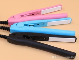 Mini Hair Straightening Irons Practical Portable Ceramic hair straightener Curler Iron straight Curl perm DUAL use new