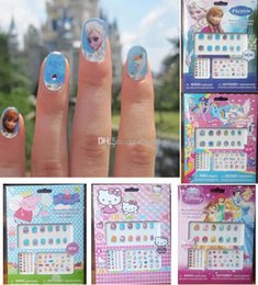 Wholesale Child Nail Decals Frozen nail stickers My little pony Sophia Snow White KT Cat Peppa Children Girls Crystal Nail Art Stickers nail tools