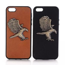 Wholesale Metal Chrome Cool Army Gun motorcycle Owl badge Soft TPU Gel back Phone cover case For Iphone S Plus S