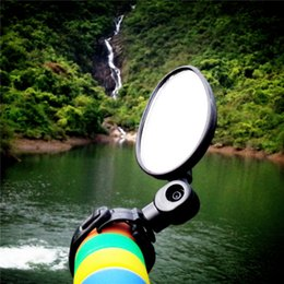 Wholesale Black Bicycle Mirror Universal Handlebar ABS Convex Mirror Rearview Mirror degree Rotate Bike pc MTB for Cycling