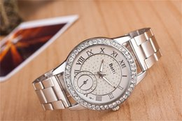 Europe and the United States sell like hot cakes scale the alloy watch of Rome Steel band watch fashion double dial