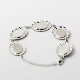 Wholesale Beadsnice filigree bracelet photo bracelet setting with blank bezels fits cabochons size x mm bangle blanks ID