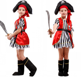 Halloween Costume for Children Girls Caribbean Pirate Costume Suit Dress Pirates Costumes Cosplay for Kids Children Girl