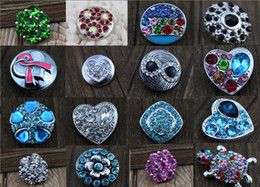 Wholesale SALE style optional High quality Mix Many styles mm noosa Snap Button Charm Rhinestone crystal Button Ginger Snaps Jewelry