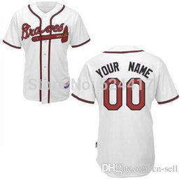Wholesale 2015 New Colors Custom Atlanta Braves Jersey Authentic Baseball Jersey Personalized Letters Double Stitched Onfield Coolbase Jersey