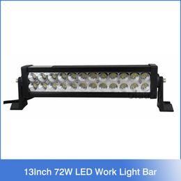 Wholesale 13 quot Inch W LED Work Driving Light Bar Lamp Bulb Spot Flood for Boat Truck SUV ATV OffRoad Car v v H2289