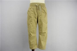 Wholesale Children Casual Pants Cotton Washed Duck Dungaree Pant Flat front Slant pockets Snap button Side utility band Machine Wash