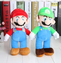 Wholesale 10 Super Mario Bros Stand MARIO LUIGI Plush Doll Stuffed Toy And Retail