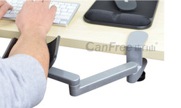 Wholesale-Aluminum Metal Health ergonomic computer hand bracket arm bracket