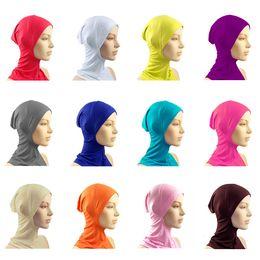 Wholesale Under Scarf Hat Cap Bone Bonnet Hijab Islamic Head Wear Neck Chest Cover