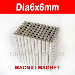 50pcs pack, dia6x6mm Neo magnet, Whole Sales Brand New Disc Rare-earth Neodymium Strong Magnet, Free shipping