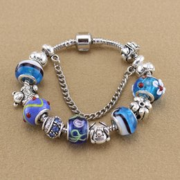ashion Jewelry Bracelets 2015 Teddy Bears Charm Bracelets & Bangles Fashion Glass Beads Bracelet Charms Bracelets for Women Girls Jew...