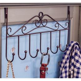 Wholesale European Creative Free Installation Iron Door Hanger Bedroom Coat Rack Hook