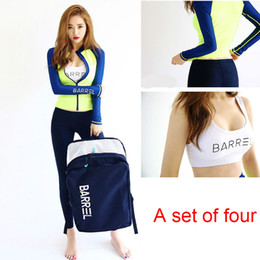Wholesale Female Surfing Suits Wetsuit Long Sleeved Zipper Wetsuit Jellyfish Clothing Sunscreen Swimsuit Sugan A Piece Of Four Sets Bathing Suit