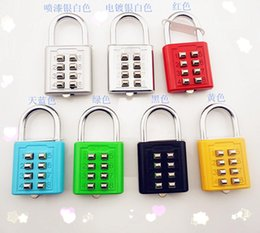 Wholesale new eight key combination lock box parcel trick lock fixed password padlock The blind locknew
