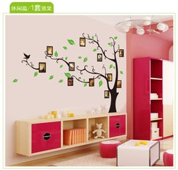 Large Size Black Family Photo Frames Tree Wall Stickers, DIY Home Decoration Wall Decals Modern Art Murals for Living Room