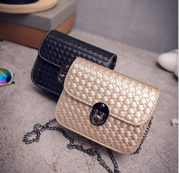 Wholesale Solid Silver Cross Chain - New womens Chain Satchel shoulder Bag Hot ladies Vintage Woven small Messenger Bags Mini Plaid Solid cross-body mini Bag Flap high quality