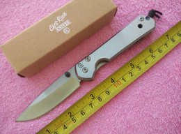 Chris Reeve small Sebenza 21 Knife 440C steel Satin Drop point Plain Folding blade knife Pocket knife knives with retail box