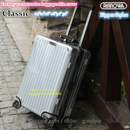 Wholesale New Luggage Covers for Rimowa luggage Best Fits RIMOWA Classic Flight quot quot quot quot quot quot quot Case Clear PVC Case Skin Zippers style