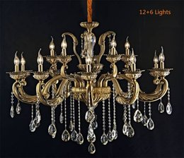 Living Room European Retro Classic Copper Zinc Alloy Crystal Chandelier Bedroom E14 Bulb Candle Imitation Copper Ceiling Lights Pendant Lamp