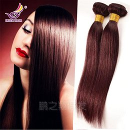Top quality Malaysian Virgin Hair Straight 99j burgundy color 3 4pcs lot 100% unprocessed remy human hair extensions Brazilian hair weaving