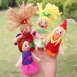 Wholesale 2016 New finger puppets toy mermaid series doll plush wooden doll a set of stories good baby helper