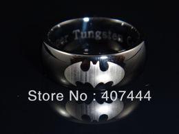 Wholesale USA HOT SALES Price Men s Comfort Fit Tungsten Carbide Rings Black Super Batman Ring Wedding Bnad Superhero