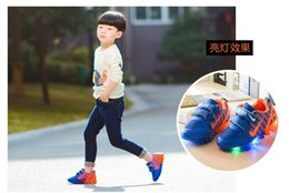 children shoes with light new spring sport running girls fashion sneakers kids led net breathable boys shoes led