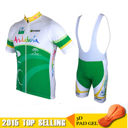 2015 Andalucia Summer Cycling Jerseys Roupa Ciclismo Quick-Dry Lycra GEL Pad Race MTB Bike Bib Pants Outdoor MTB mountain biking clouthes