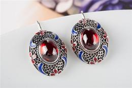 Square Gem Stone Natural Amethyst Citrine Garnet Peridot Topaz Earrings Stud Genuine 925 Sterling Silver Gift Girls 2015 New