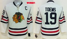 Wholesale Hockey Jerseys Chicago women Jonathan Toews Womens White Jersey Stitched Authentic Hockey Apparel Jerseys Mix Order Top Quality