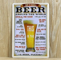 Wholesale NEW UA beer and whiskey wine metal painting vintage tin signs home decor plates wall art craft bar X30cm
