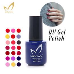 Wholesale-MONASI Free Shipping Three Steps Vermilion Red Color UV Gel Nail Polish 5 ML UV&LED Lamp Easy Dry