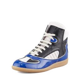 Wholesale 2017 Hot maison martin margiela sneakers fashion Men s Sneaker genuine Leather men s casual brand shoes man autumn ankle boots