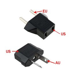 Free Epacket, US EU to EU AU AC Power Plug Converter Adapter Adaptor USA to European Black Plastic Travel Converter Max 2200W Two Pins