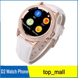 A prueba de agua reloj inteligente No.1 D2 mujeres del diamante del oro SmartWatch bluetooth multi-estilo de las cámaras de 0,3 MP para Smartphone 010059 desde mujer del estilo de reloj resistente al agua proveedores